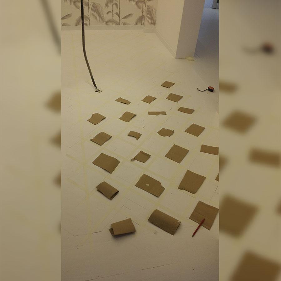 Ejemplo de pintura de suelo de cocina